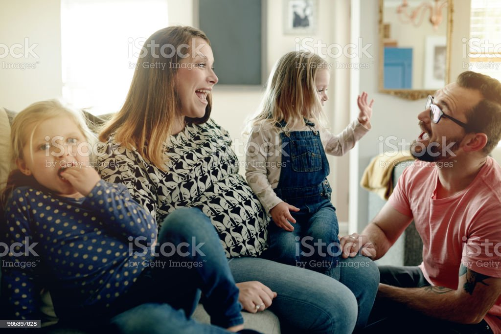 항상 가족을 위한 시간이 이다 - 로열티 프리 가정 생활 스톡 사진
