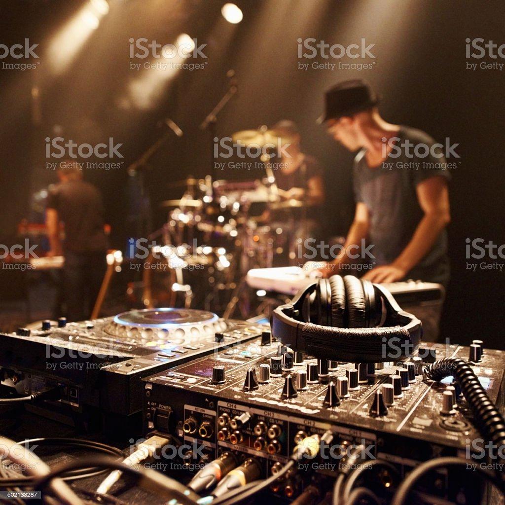 Es ist jetzt die Magie auf dieser Bühne - Lizenzfrei Audiogerät Stock-Foto