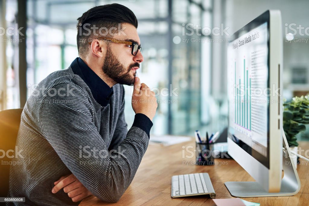 There's much to analyse from just a little data stock photo