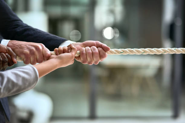 There's no business challenge that can't be beaten with teamwork stock photo