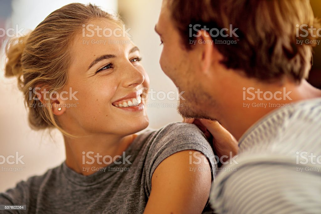 There's no happiness like the happiness you give me stock photo