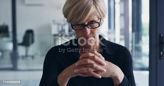 Portrait of a mature businesswoman in an office