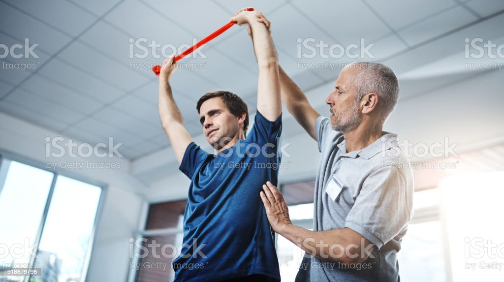 There's no reason to make your injuries an impediment stock photo