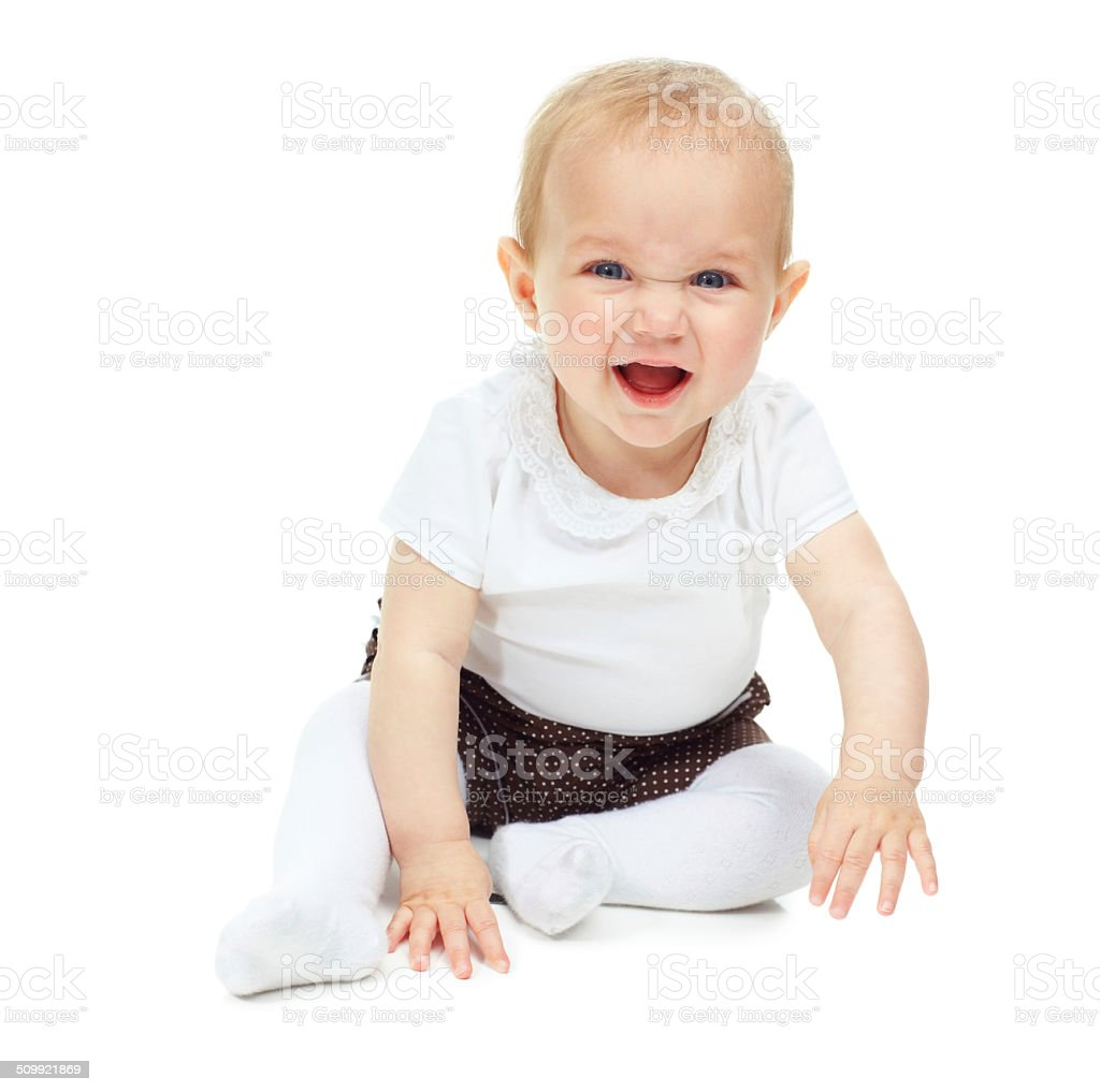 There's no sound as sweet as a baby's laughter! stock photo