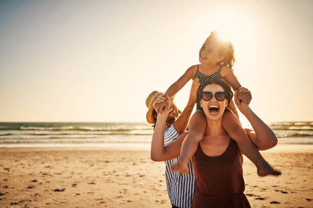 There's no time like family time stock photo