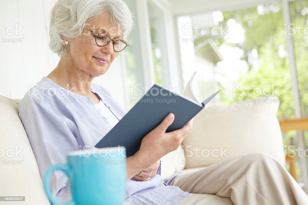 There's nothing better than a good book stock photo