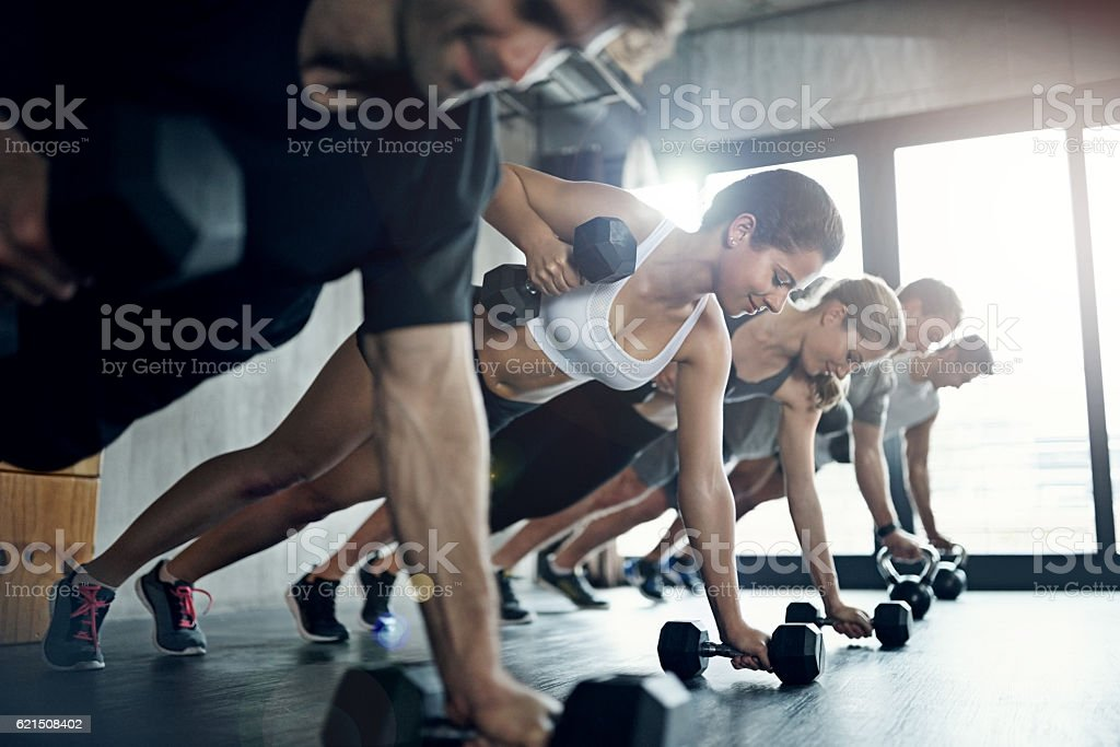 There's nothing like serious gains to make you feel confident foto stock royalty-free