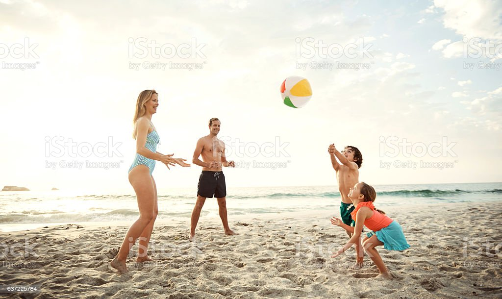 There's nothing more simple and fun as a beach ball - Photo