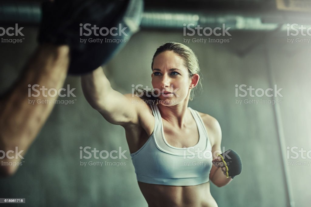 There's power in every punch stock photo