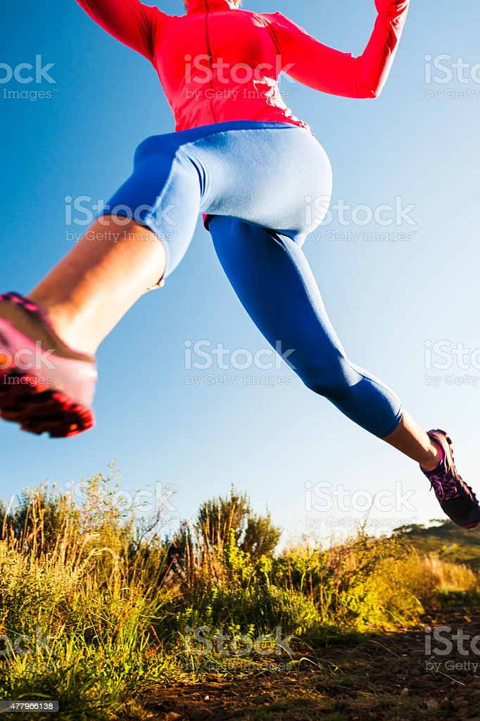 There's Power In My Stride stock photo