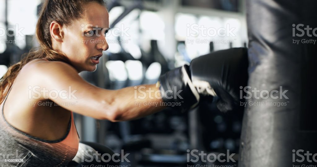There's power in those punches stock photo