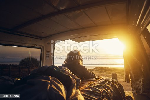 istock There's something very calming about the setting sun 688453750