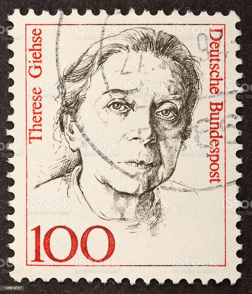 Therese Giehse Deutsche Bundespost Stamp stock photo