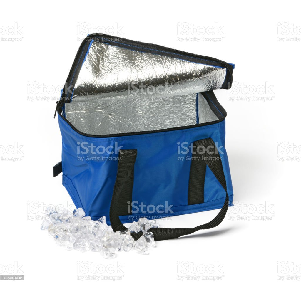 thermal bag on the white background stock photo