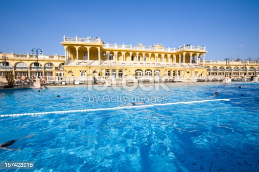 Beautiful classical style Thermal Bath and spa in Budapest (The Szechenyi Bath)