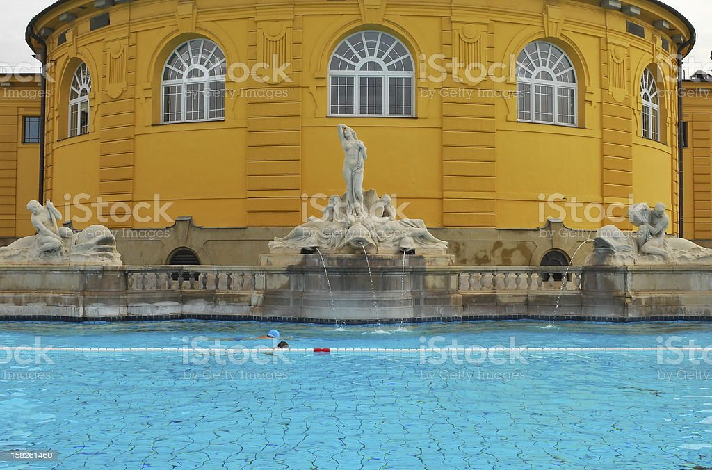 Thermal baths in Budapest stock photo