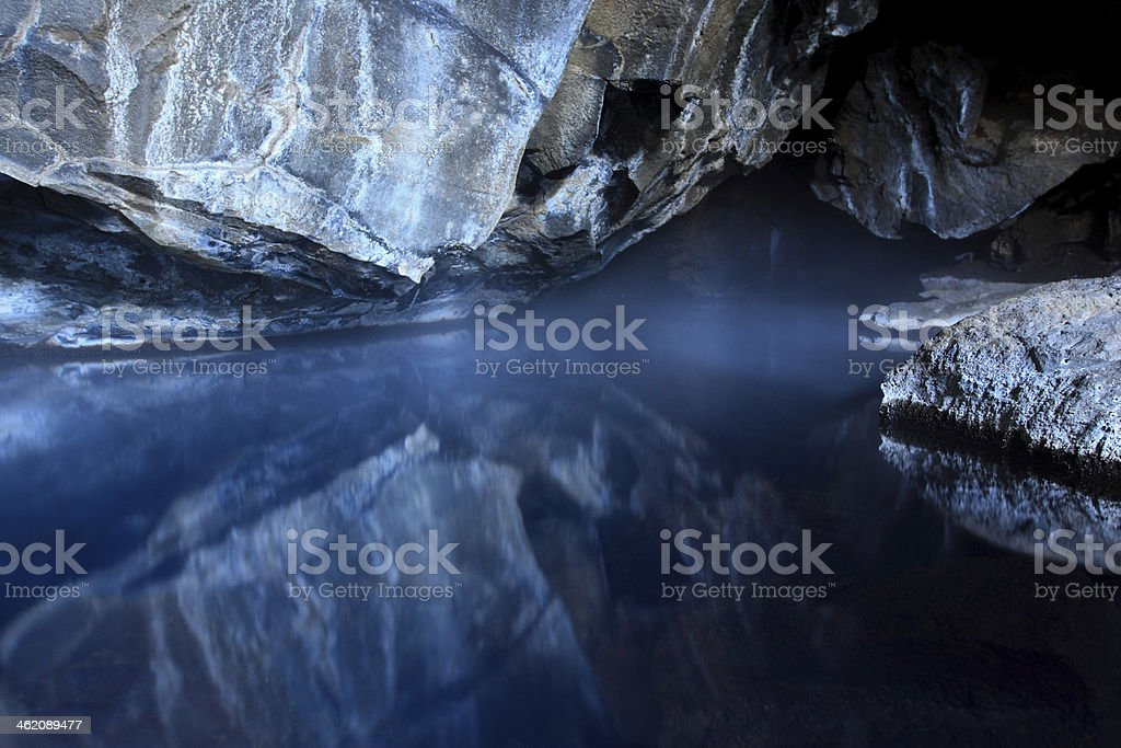 Thermal cave stock photo