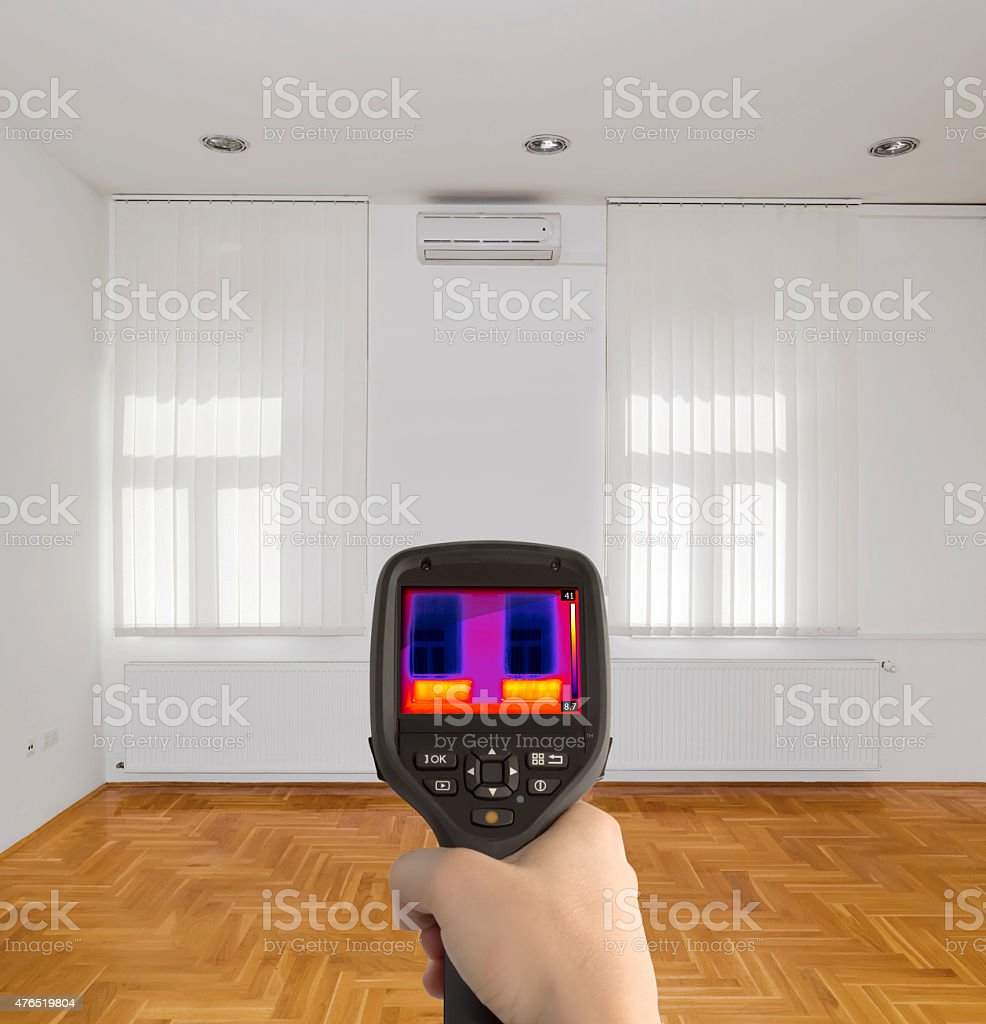 Thermal Image of Room stock photo