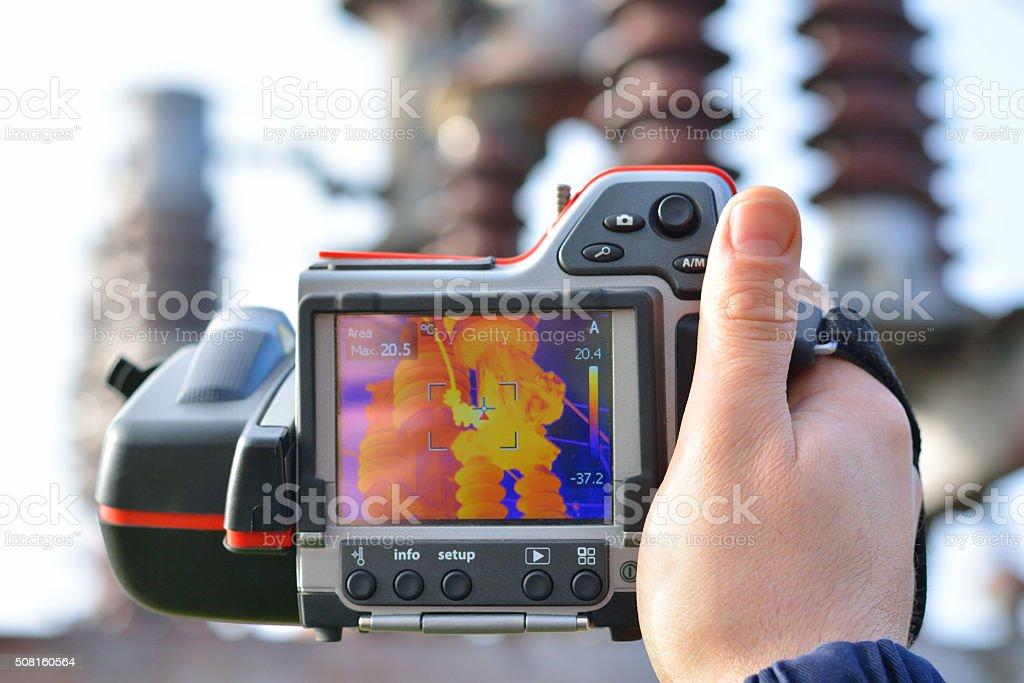 Thermo-Bildbearbeitung und Kamera – Foto