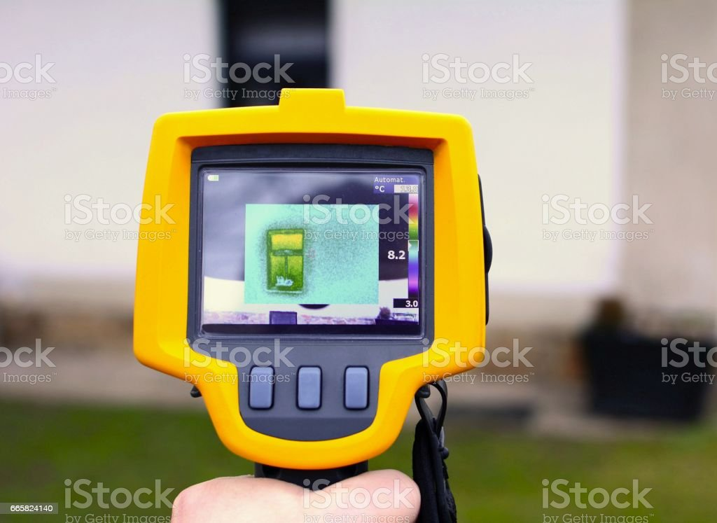 Thermal Imaging Detection stock photo
