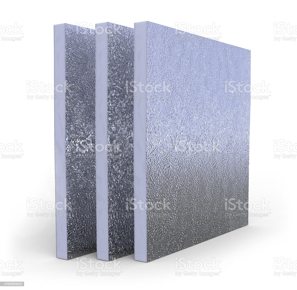 Thermal insulation panel stock photo