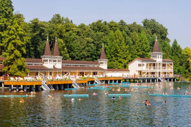 Thermal Lake and Spa - Heviz stock photo