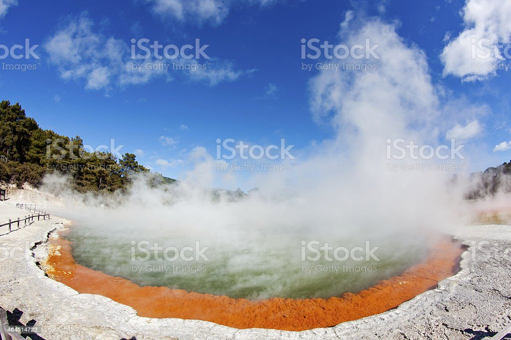 Thermal pool stock photo