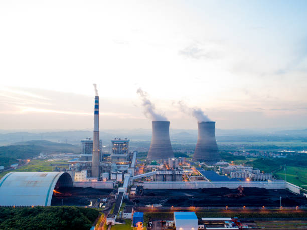 Thermal power generation stock photo