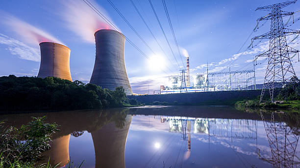 Thermal power plant Thermal power plant nuclear power station stock pictures, royalty-free photos & images