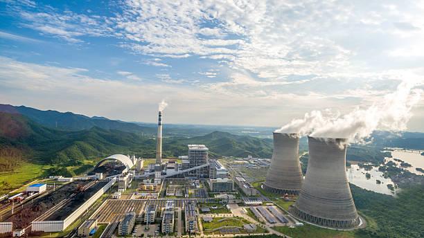 Thermal power plants, China Jiangxi stock photo