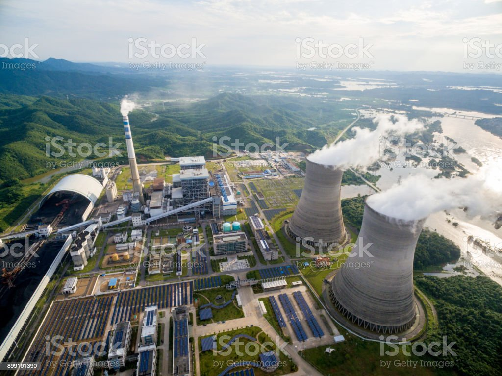 Thermische centrales, China Jiangxi foto