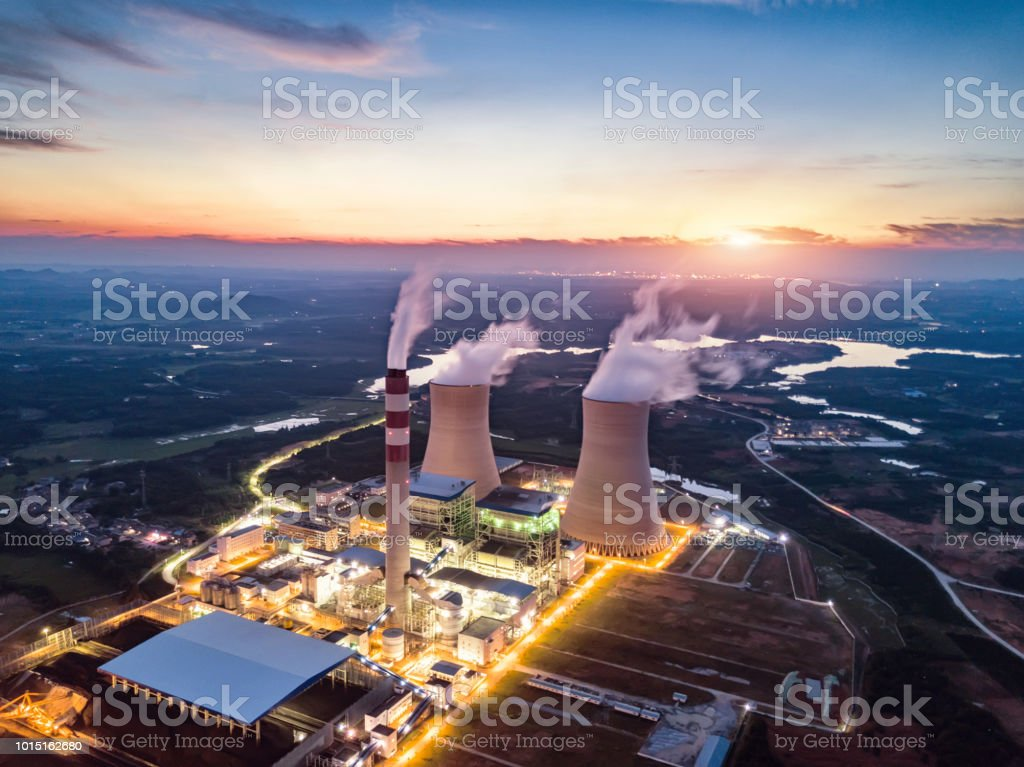 Thermal power station - Royalty-free Agricultural Field Stock Photo