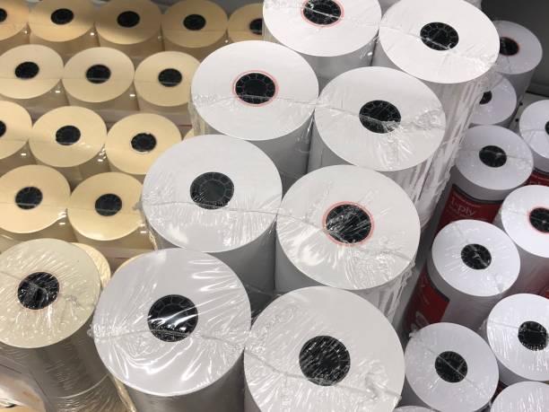 thermischen eingang papier - kassenbon stock-fotos und bilder