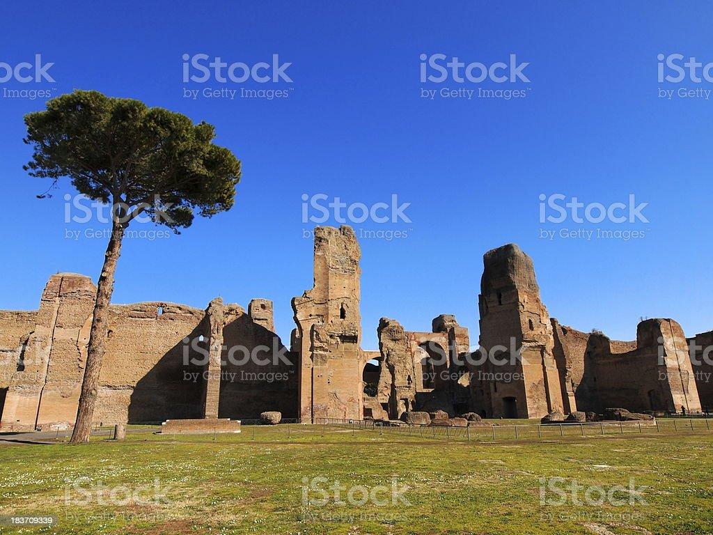 Thermes de Caracalla, Rome, Italy royalty-free stock photo