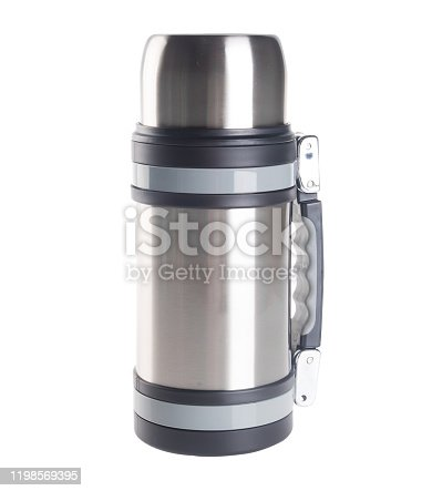 1135476970 istock photo Thermo or Thermo flask on background 1198569395