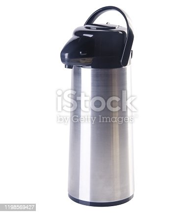 1135476970 istock photo Thermo or Thermo flask on background 1198569427