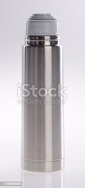 1135476970 istock photo Thermo or Thermo flask on background 1198569484