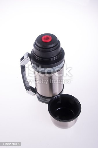 1135476970 istock photo Thermo or Thermo flask on background 1198570019