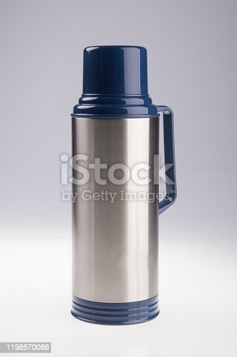 1135476970 istock photo Thermo or Thermo flask on background 1198570086