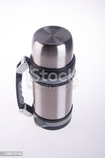 1135476970 istock photo Thermo or Thermo flask on background 1198570148
