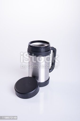 1135476970 istock photo Thermo or Thermo flask on background 1198570149
