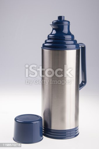1135476970 istock photo Thermo or Thermo flask on background 1198570215