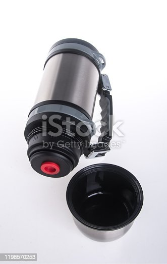 1135476970 istock photo Thermo or Thermo flask on background 1198570253
