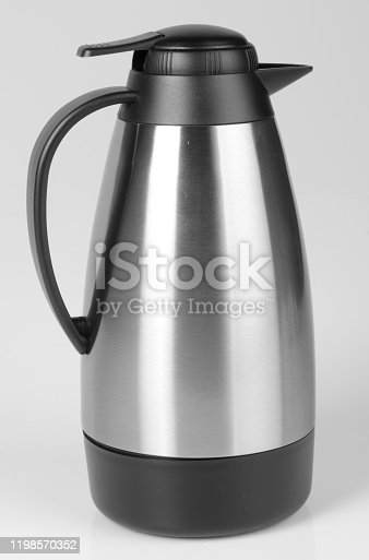 1135476970 istock photo Thermo or Thermo flask on background 1198570352