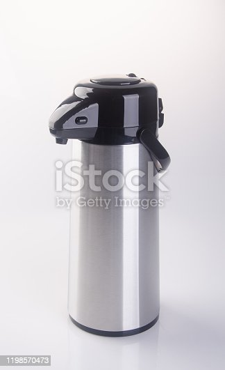 1135476970 istock photo Thermo or Thermo flask on background 1198570473