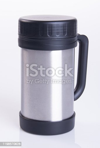 1135476970 istock photo Thermo or Thermo flask on background 1198570628