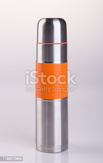 1135476970 istock photo Thermo or Thermo flask on background 1198570655