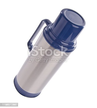 1135476970 istock photo Thermo or Thermo flask on background 1198572887