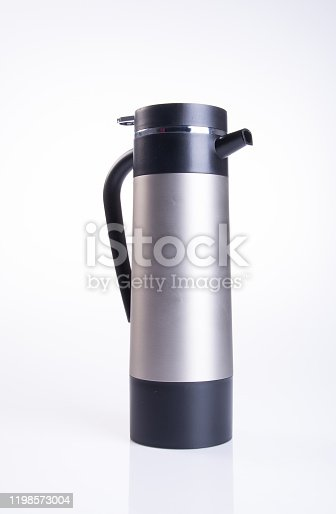 1135476970 istock photo Thermo or Thermo flask on background 1198573004