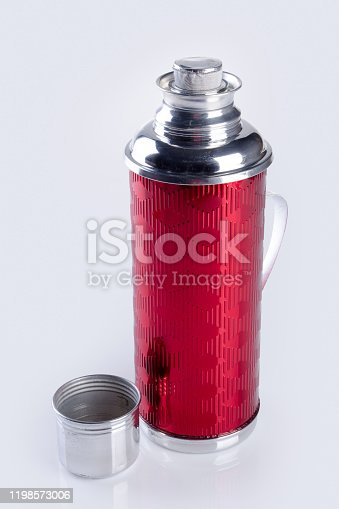 1135476970 istock photo Thermo or Thermo flask on background 1198573006